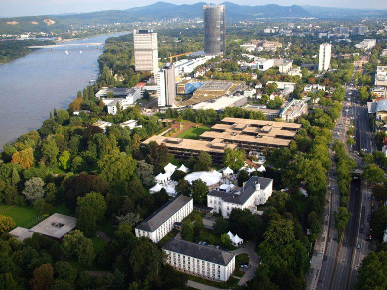 Bonn Bundesviertel Luftaufnahme 2010